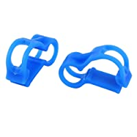 uxcell 2 Pcs RC Nitro 5mm Dia Fuel Line Tubing Clamp Pinch Clip Blue