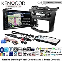 Volunteer Audio Kenwood DNX574S Double Din Radio Install Kit with GPS Navigation Apple CarPlay Android Auto Fits 2003-2007 Honda Accord (Factory climate controls)
