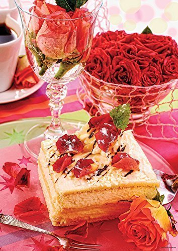 Mega Puzzles Almond Cake 1000 Piece Jigsaw Puzzle, Confections Series.