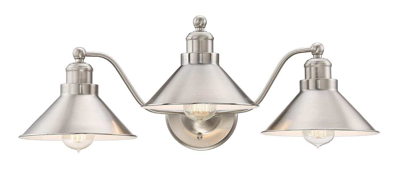 "Kira Home Welton 25.5"" Modern Industrial 3-Light Vanity/Bathroom Light, Brushed Nickel Finish"