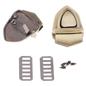 D DOLITY Broche de Bolso Hebilla de Cierre de Metal Pinzas para Bolso de Cuero PU - Triángulo de Bronce: Amazon.es: Hogar