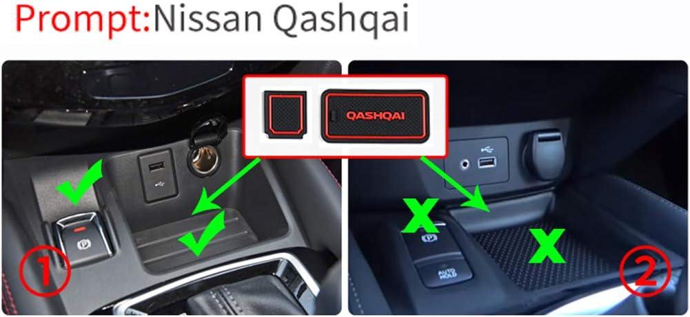 LFOTPP Qashqai J11 Tapis en caoutchouc anti-d/érapant Tapis Car Styling Int/érieur Rouge