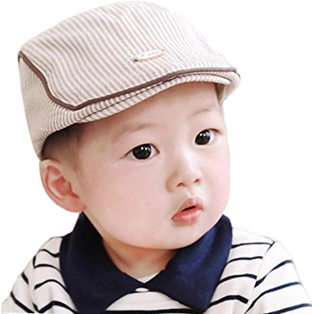 VonVonCo Cute Baby Infant Boy Girl Stripe Beret Cap Peaked Baseball Hat Suitable for 1-3 Year