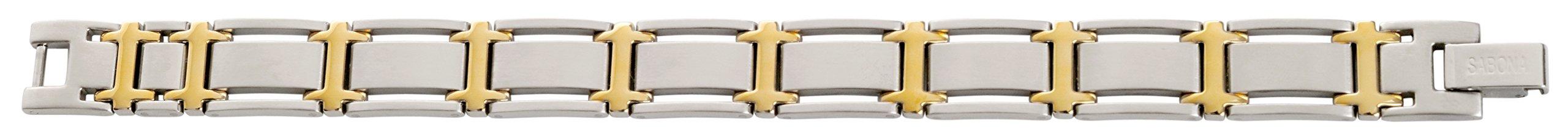 Sabona Executive Symmetry Duet Magnetic Bracelet - Large by Sabona (Image #2)