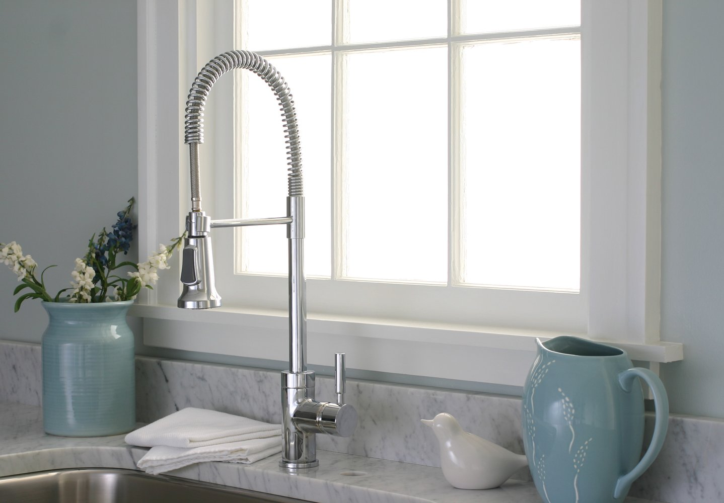 Premier 120334 Essen Single Handle Commercial Style Pull Down Kitchen Faucet,  PVD Brushed Nickel   Touch On Kitchen Sink Faucets   Amazon.com