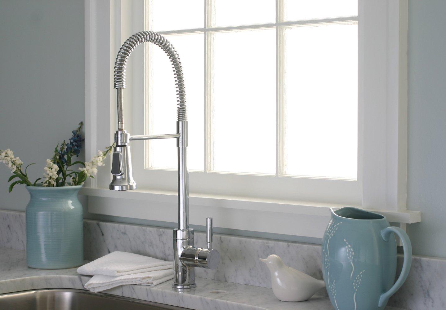 Premier 120333 Essen Single Handle Commercial Style Pull Down Kitchen Faucet,  Chrome   Touch On Kitchen Sink Faucets   Amazon.com