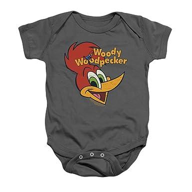fa2c5e180 Amazon.com: Woody Woodpecker Retro Logo Baby Onesie: Clothing