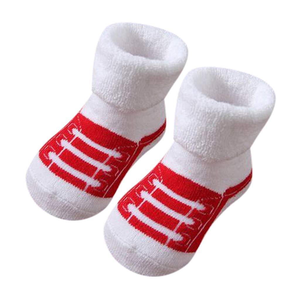 FEITONG Kids Infant Toddler Baby Boys Girls Cartoon Animals Anti-Slip Knitted Warm Socks(1-3T,I)