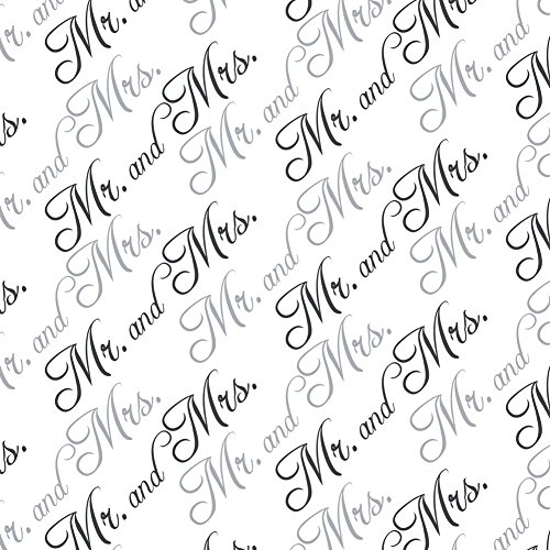 Mr. and Mrs. Wedding Black and White Premium Gift Wrap Wrapping Paper -
