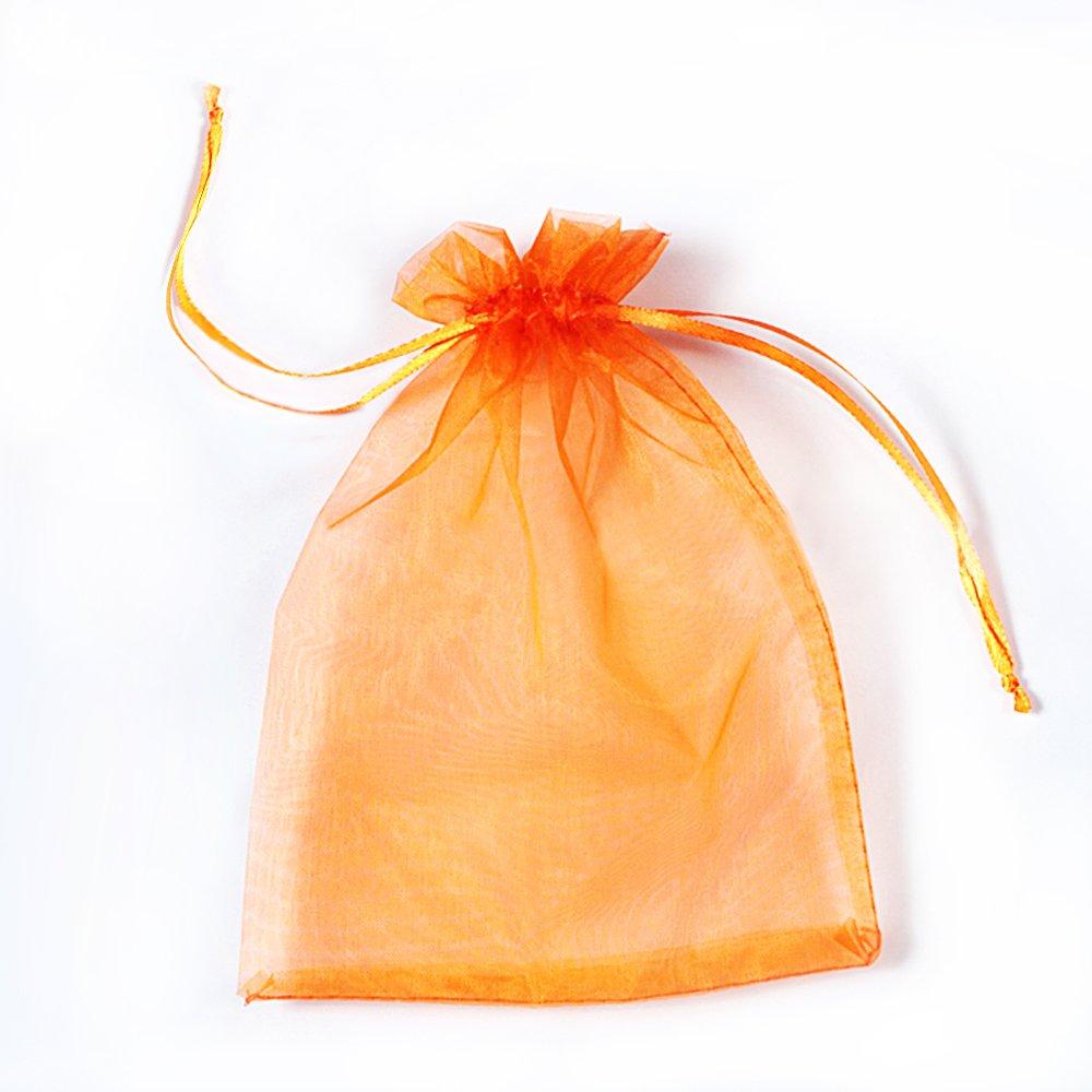 Negro Ycool 100 PCS 10x15cm Bolsas de Regalo de Organza Bolsos de Lazo de Organza Jewelry Pouches Wrap para la Fiesta de la Boda de Navidad