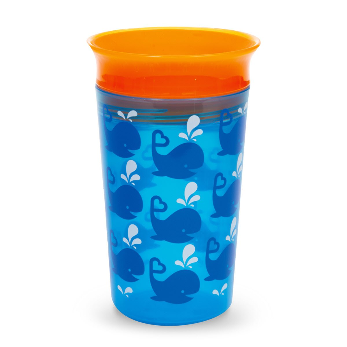 Munchkin Miracle 360 Degrees Deco Children Kids Sippy Cup Mug 266 ml Blue Whale