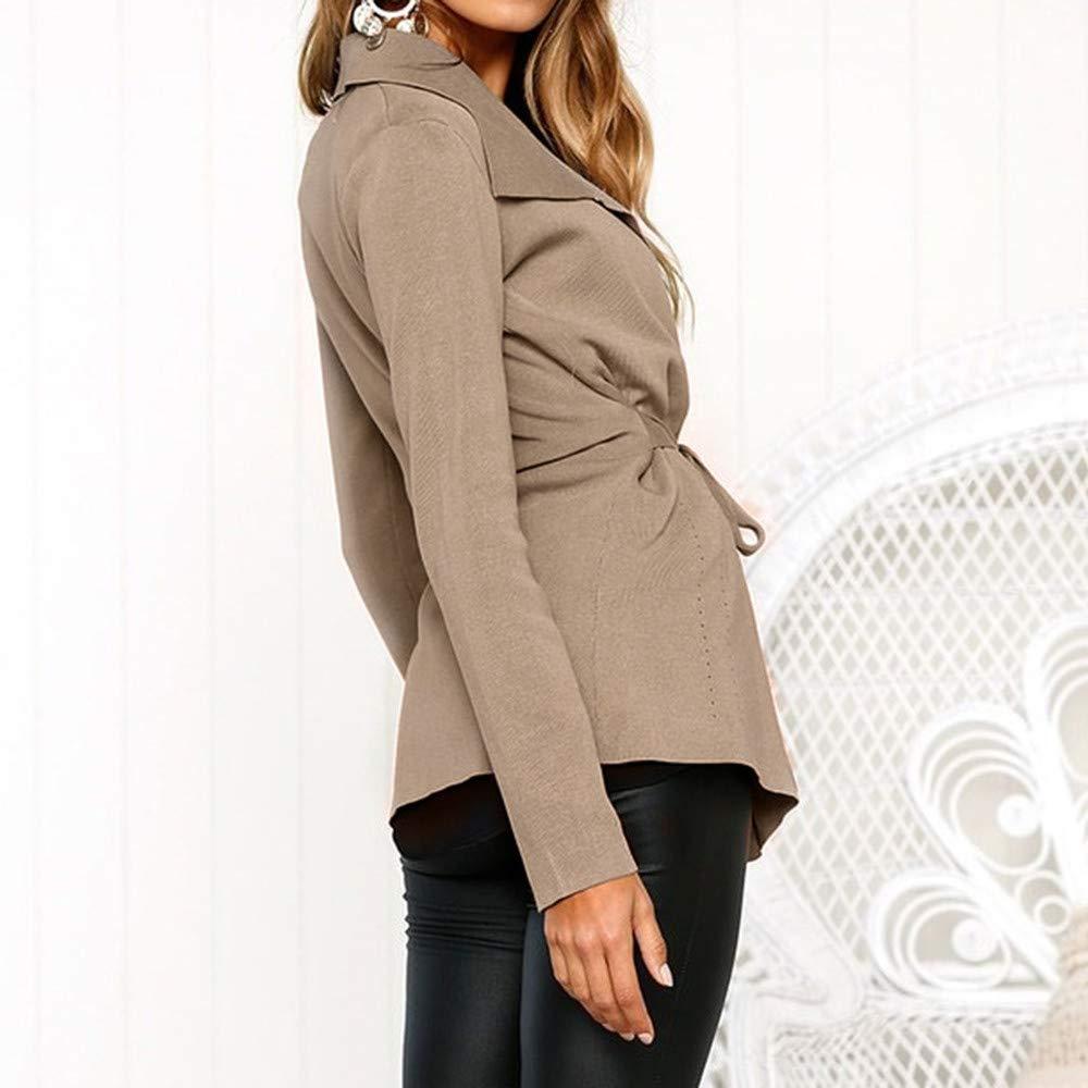 Mujer Suéter Cárdigan,Sonnena ❤ Suéter de color sólido para mujer Abrigo informal de manga larga: Amazon.es: Hogar