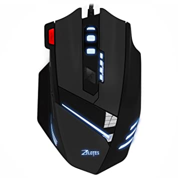 Jeecoo Zelotes T60 LED Wired Gaming Maus 7200 dpi: Amazon.de ...