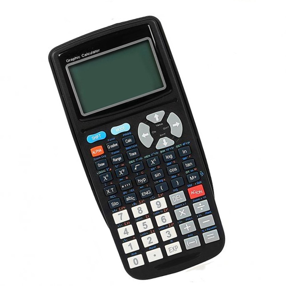 Ginamart 12 Digits Science Graphing Calculator Multi-function LED Display Calculator TG204 Black