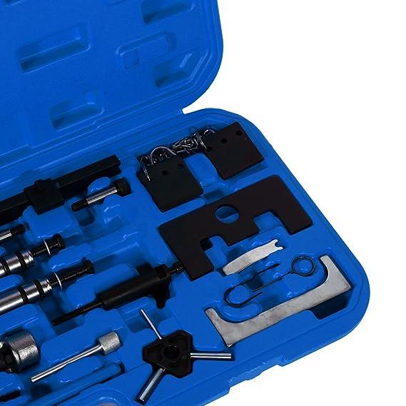 Coffret Juego de herramientas árbol de levas herramienta de cambio de correa de distribución para coche AUTOMÓVIL Motor VAG VW Audi Skoda: Amazon.es: Coche ...