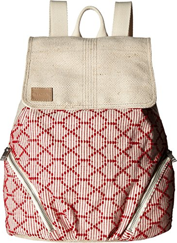 TOMS Women's Multi Cross Stitch Mix Backpack Medium Red Backpack