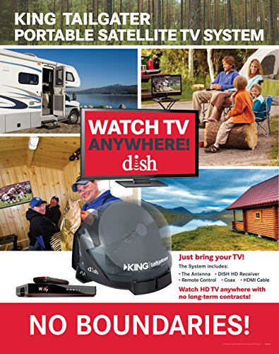 KING VQ4550 Tailgater Bundle - Portable Satellite TV Antenna and DISH Wally HD Receiver by KING (Image #1)
