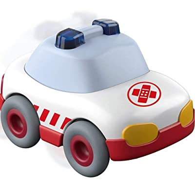 HABA Kullerbu White Ambulance with Momentum Motor - Can be Enjoyed with or Without The Kullerbu Track System - Ages 2+: Toys & Games