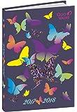 Quo Vadis Butterfly Euro Text 1281080Q - Agenda scolastica giornaliera, 12x 17cm, anno 2017-2018 [lingua italiana non garantita]