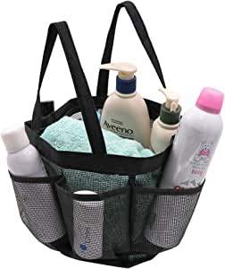 Shower Bag, McoMce Mesh Shower Caddy Portable Shower Caddy, Large Shower Tote Bag with 2 Handles, Quick Dry Oxford Hanging Bathroom Caddy for Dorm, Gym, Travel, Hotel, Swimming