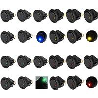 8 Unids Coche Vehículo Camión Rocker Conmutador LED