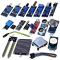 Kuman 16 in 1 Modules Sensor Kit Project Super Starter Kits for Arduino UNO R3 Mega2560 Mega328 Nano Raspberry Pi 3 2 Model B K62 by Kuman