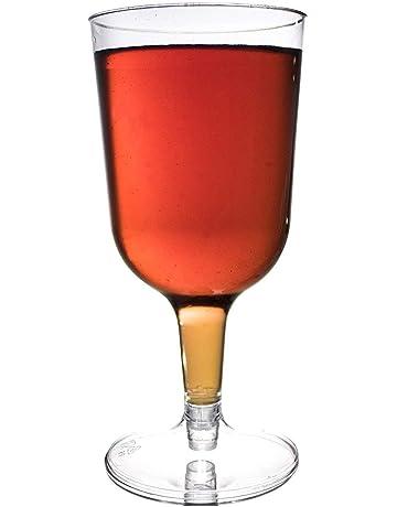 48 Pcs Copas de Vino Plástico Transparente, 180 ml - Desechables, Reutilizables y 100