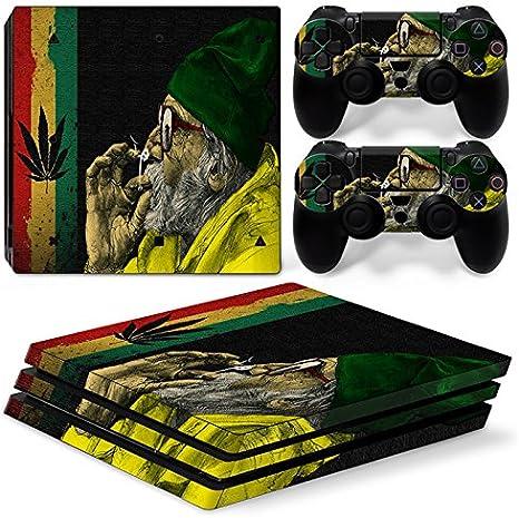 Sony PS4 Playstation 4 Pro Skin Design Foils Pegatina Set - Cannabis 11 Motivo: Amazon.es: Videojuegos