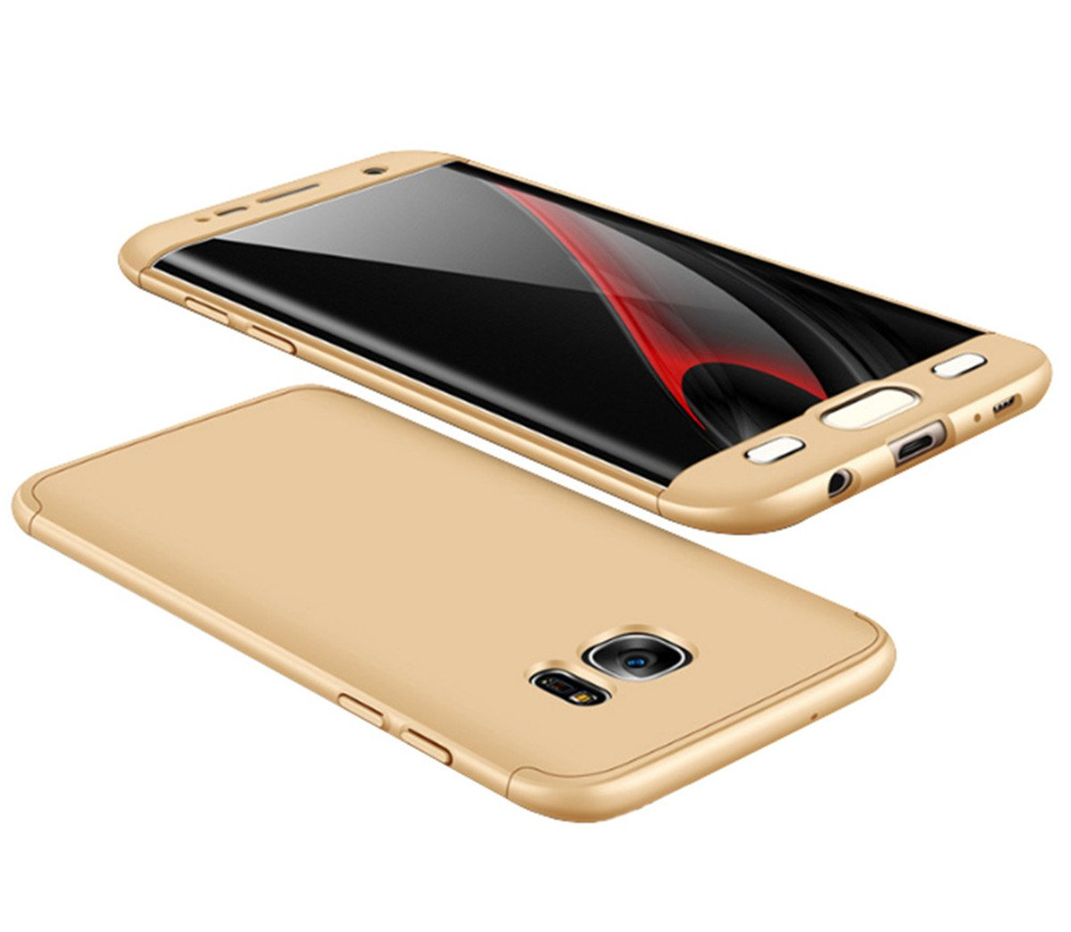 7abb0320645 Funda Samsung Galaxy s7/s7 Edge Biter Cubierta de 360°Caja Protectora PC  Shell Duro A Prueba de choques Almohadilla Anti-rasguño del Protector 3 en  1 ...