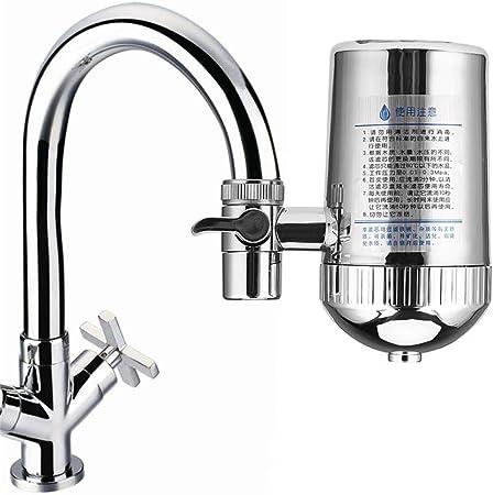 Czxwyst purificador de agua de acero inoxidable grifo filtro de agua mineral piedra grifo purificador de agua grifo de cocina filtro de agua de eliminación de óxido lavable filtro 31: Amazon.es: Hogar