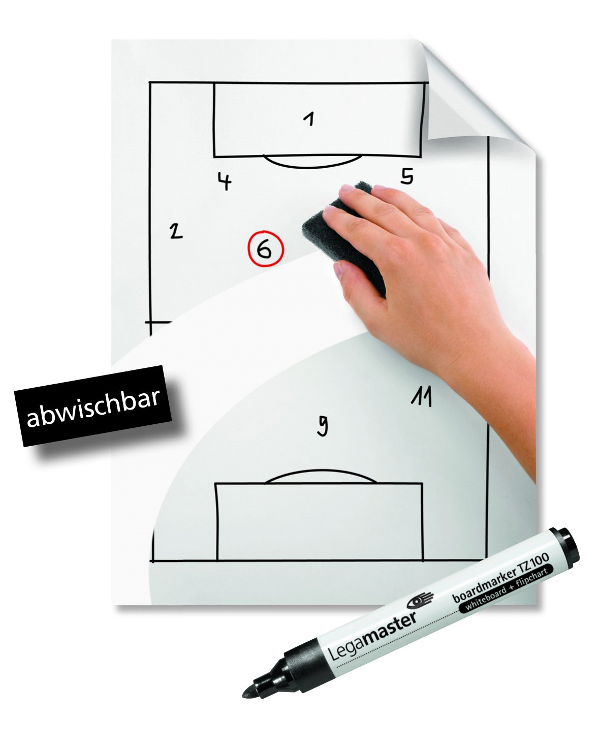 Legamaster Legamaster Magic – chart Notes Whiteboard, Polipropilene, Bianco, fogli bianchi, 20 x 30 cm (A4) 7-159100-A4