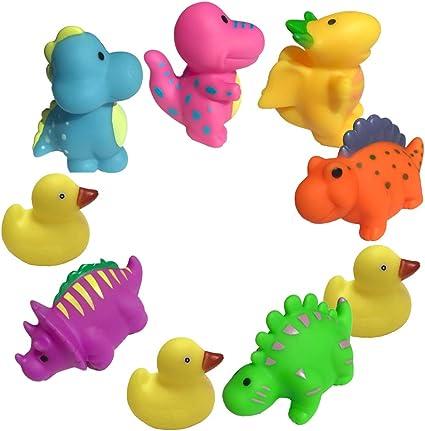 Flotantes para Beb/és Multicolor Patitos de Goma Hogar y M/ás para Ba/ño con Estilo Baby Set de 3 Dise/ño Original