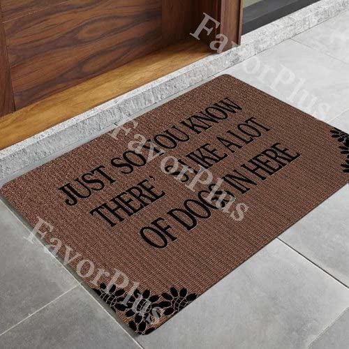 FavorPlus Don t Step on My Wiener Dog, Daschund Style-1 Entrance Custom Doormat Door Mat Machine Washable Rug Non Slip Mats Bathroom Kitchen Decor Area Rug 15.7X23.6 Inch