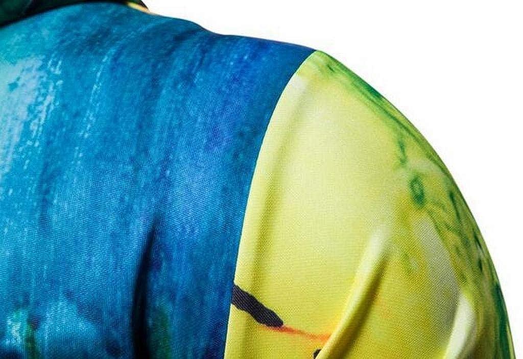 XTX Mens Autumn Drawstring Splash-Ink 3D Print Pullover Hooded Hoodie Sweatshirt