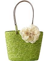 YOUJIA Women Woven Straw Handbags Flower Casual Beach Tote Shoulder Handbag