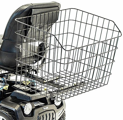 Challenger Mobility Jumbo Rear Basket XX-Large Size Grocery Shopping compatible with Large Pride Mobility - Mobility Scooters Bariatric