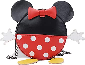 Cute Bowknot Crossbody Bag Cartoon Shoulder Purse Wallet with Mouse Ears for Boys Girls.Kids Toddlers