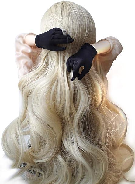 Length high temperature material Natural Colour Thick wig doll hair ML