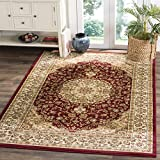 Safavieh Lyndhurst Collection LNH222B Traditional Oriental Medallion Red and Ivory Square Area Rug (8′ Square)