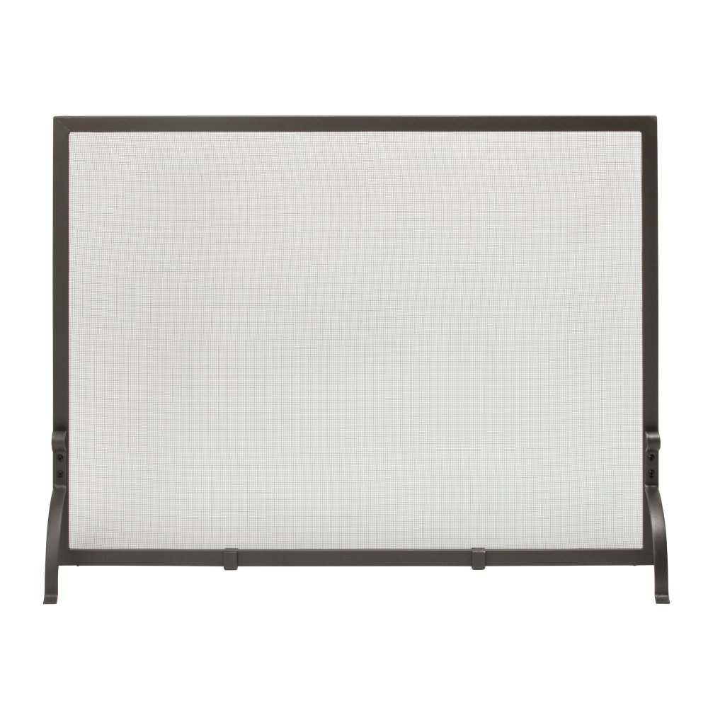 Uniflame, S-1158, Small Single Panel Olde World Iron Finish Screen