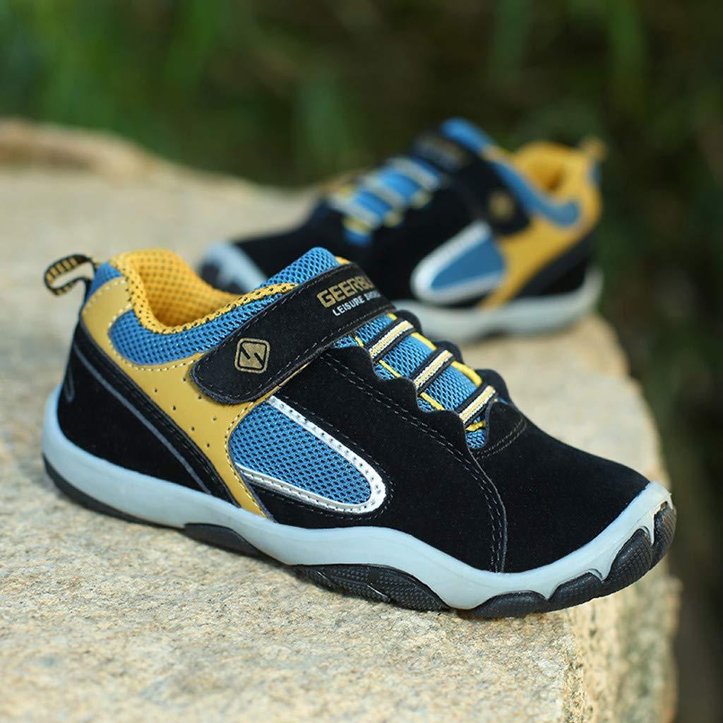 TIANRUN Boys Lightweight Sneakers Girls Strap Athletic Running Shoes Kids Sneakers Outdoor Toddler//Little Kid//Big Kid