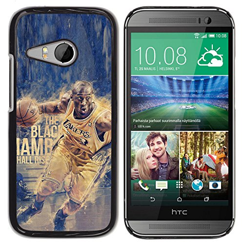 BasketCase Kbe Bryant Black Mamba Basketball HTC ONE MINI 2 / M8 MINI / / Slim 360 Protection Case Cover PC / Aluminium Protector Shell Rugged