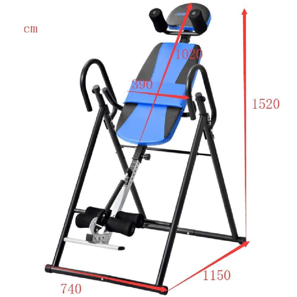WZB-フィットネス機器超厚背もたれ付きで耐久性背中を伸ばす機械背中を伸ばす機械ヘビーデューティ反転滑り止め(色:青、サイズ:152 * 74 * 115 CM) 青 152*74*115CM
