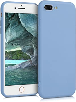 Carcasa de TPU para m/óvil Cover Trasero en Calabaza Claro kwmobile Funda Compatible con Apple iPhone 7 Plus 8 Plus