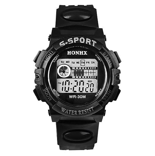 Sannysis® Impermeable Digital Fecha LED Deportes hombres reloj de pulsera Negro: Amazon.es: Relojes