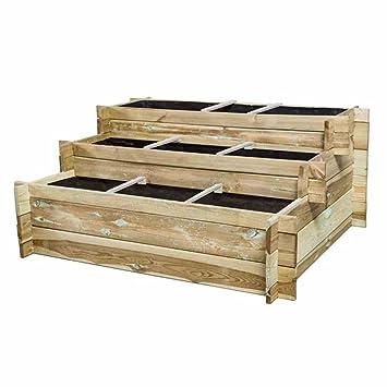 Hochbeet Treppe Hugo 120x100x54cm 3 Stufen Amazon De Baumarkt