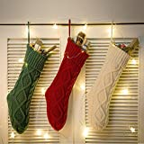 """Funny Party Newest 3 pack 15"""" Knit Christmas Stockings,Wihte/Green/Red"""
