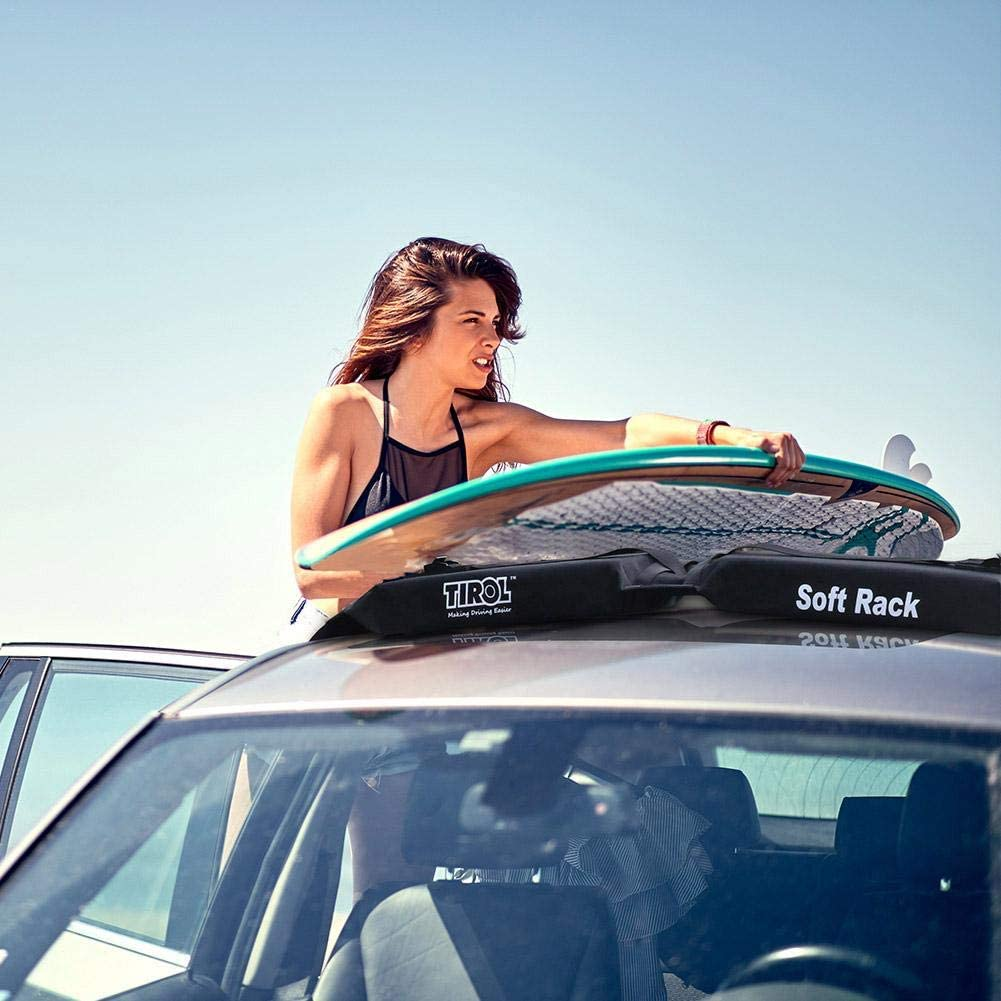 Universal Car Roof Rack for Kayak//Surfboard//SUP//Canoe Rooftop Luggage Carrier Load 60kg Baggage Easy Fit Removable