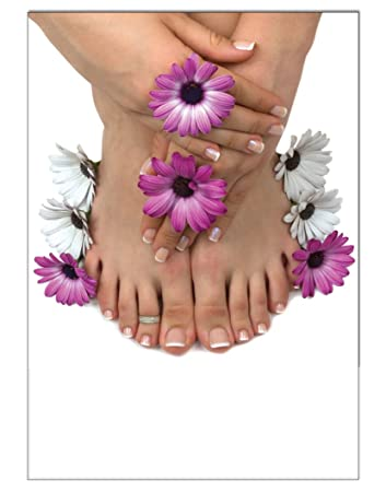 Poster purple flower pedicure foot care din a3 nail studio nail poster purple flower pedicure foot care din a3 nail studio nail design nail art wall design freerunsca