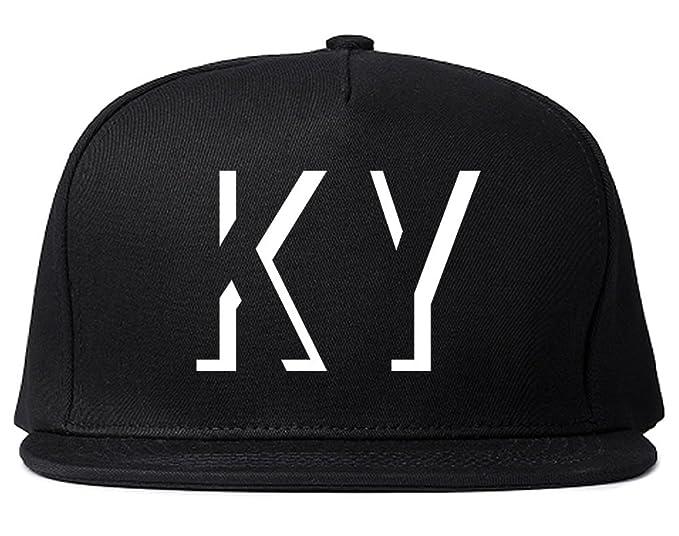 Kings Of NY KY Kentucky Abbreviation State Snapback Hat Black